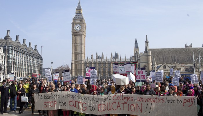 Outside-Parliament-funding-cuts-demo-18th-March-2015-3-700x400